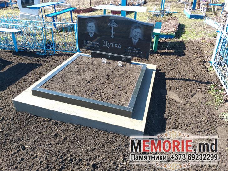 Двойные семейные гранитные памятники на могилу