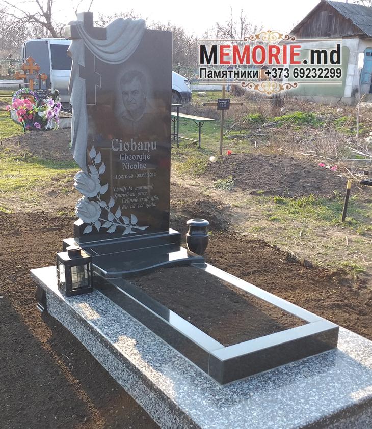 Памятник на могилу с плитой Дрокия
